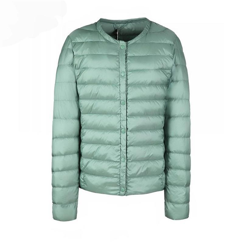 Donne invernali Ultra Light Bianco Duck Down Piumino Cappotto corto Slim Casual Cappotti femminili Plus Size S-3XL Parka calda 210519