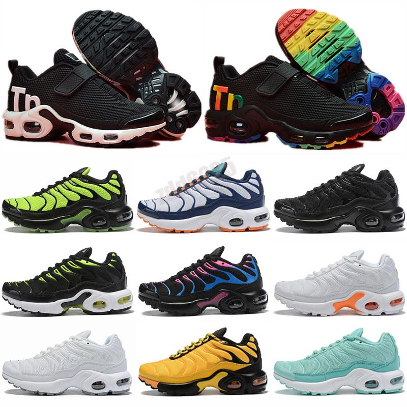 TN KPU Childrens Athletic Shoes Kids Boys Basketball Sneakers Child Huarache Legend Blue Size 28-35