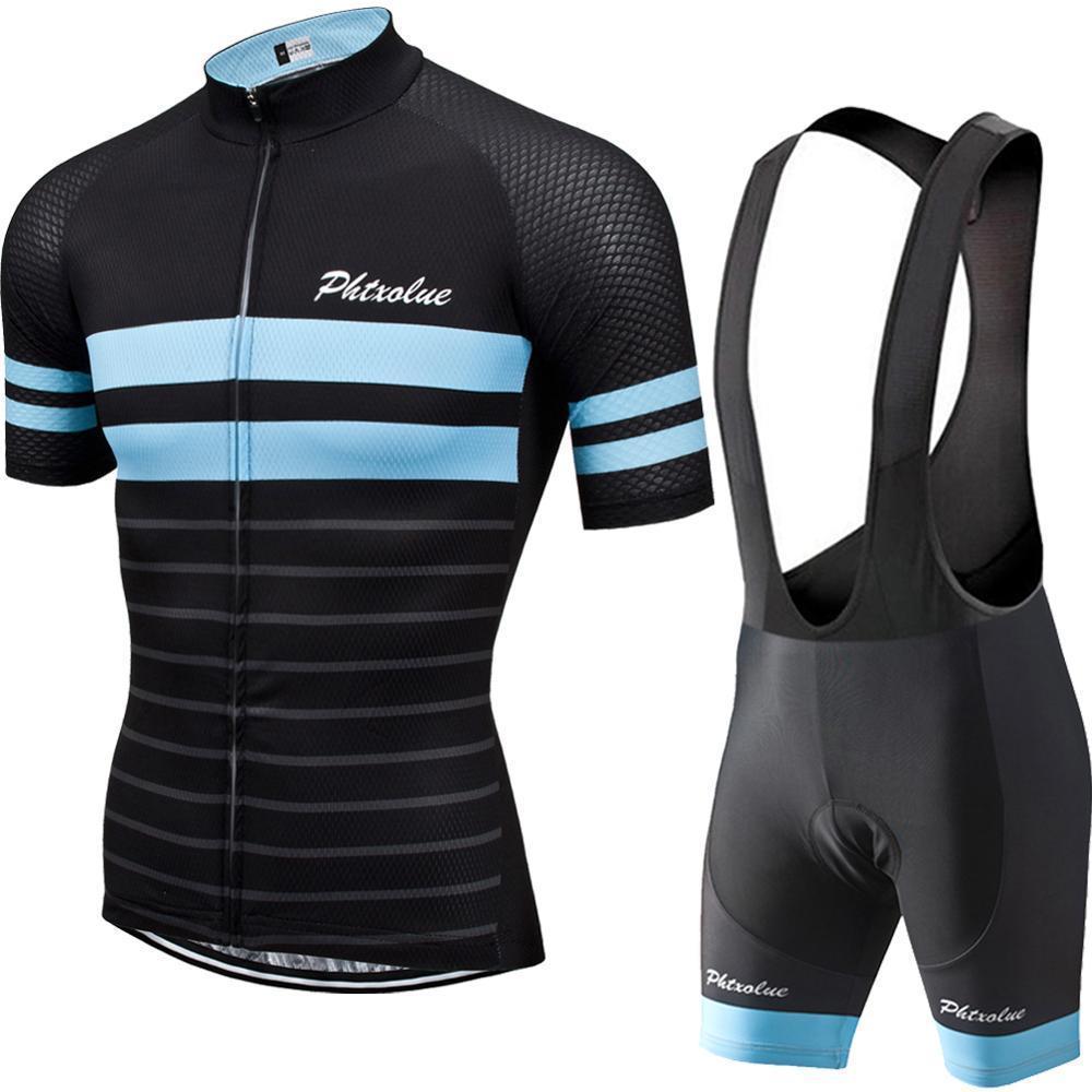 Phtxolue Pro Мужчины Велоспорт одежда набор велосипедных джерси велосипед одежда гора дышащая анти-уклон MTB велосипедная одежда рубашка костюм X0503