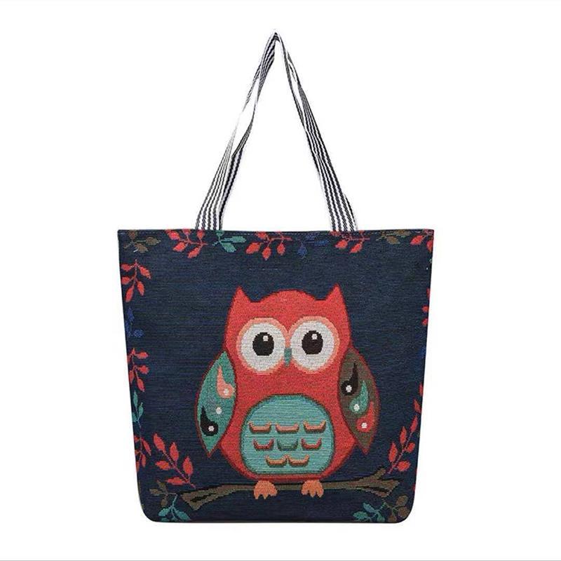 Korean version ins student canvas bag women's literature and art versatile single shoulder bags small fresh linen short distance travel bagss P025