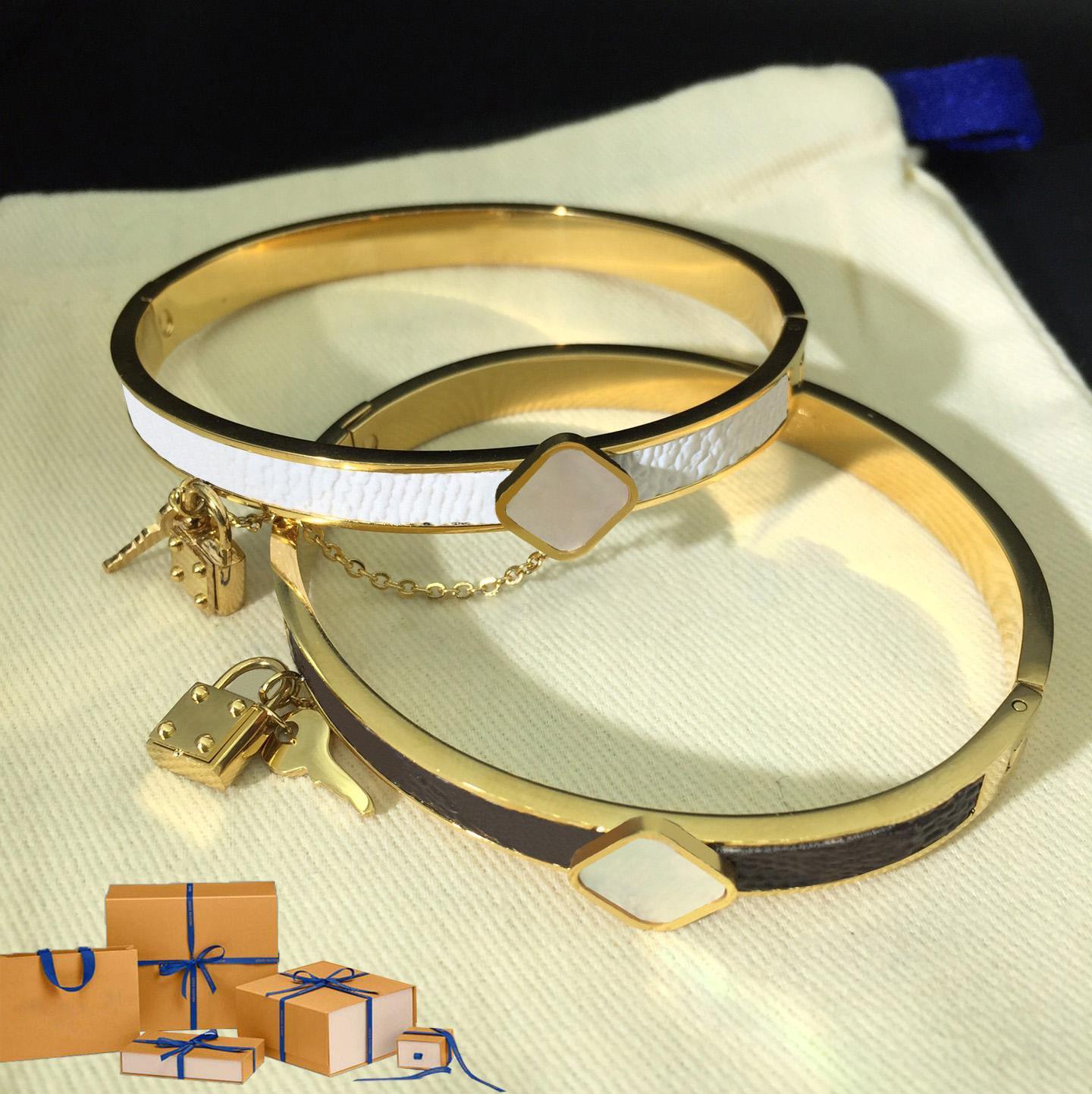 Классические дизайнерские браслеты для женщин цветы замок браслет женские браслеты моды улица украшения подарок с коробкой