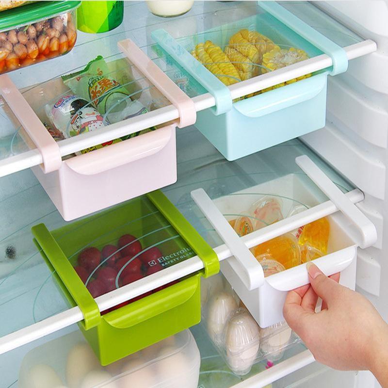 صناديق التخزين صناديق المطبخ ثلاجة اللوحي منظم البلاستيك مربع حاوية درج ترتيب لآمنة سحب نوع الحفظ