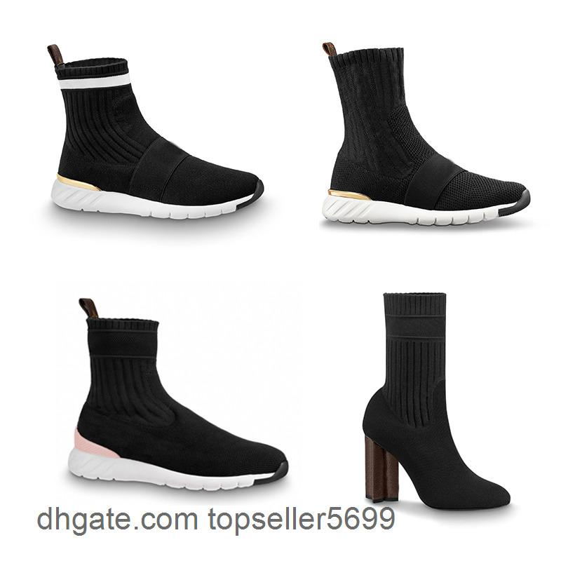 Tasarımcı Aftergame Sneaker Kadın Çorap Martin Çizmeler Streç Yüksek Topuk Siluet Ayak Bileği Patik Kış Ayakkabı