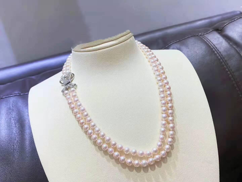 Handmade 45-47cm 7-8mm Blanc Freshwater Perle Micro Inlay Zircon Accessoires Collier Mode Bijoux