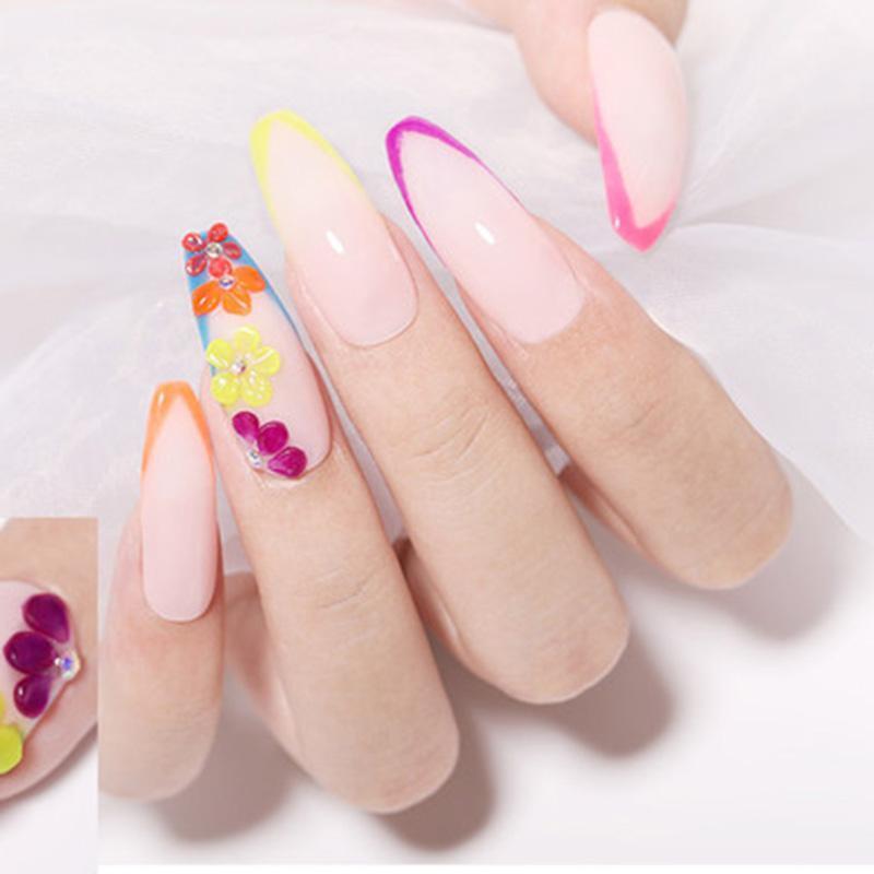 In 1 fluorescente imastidire chiodo in polvere intaglio estensione pigmento decorazione artistica Soyw889 glitter