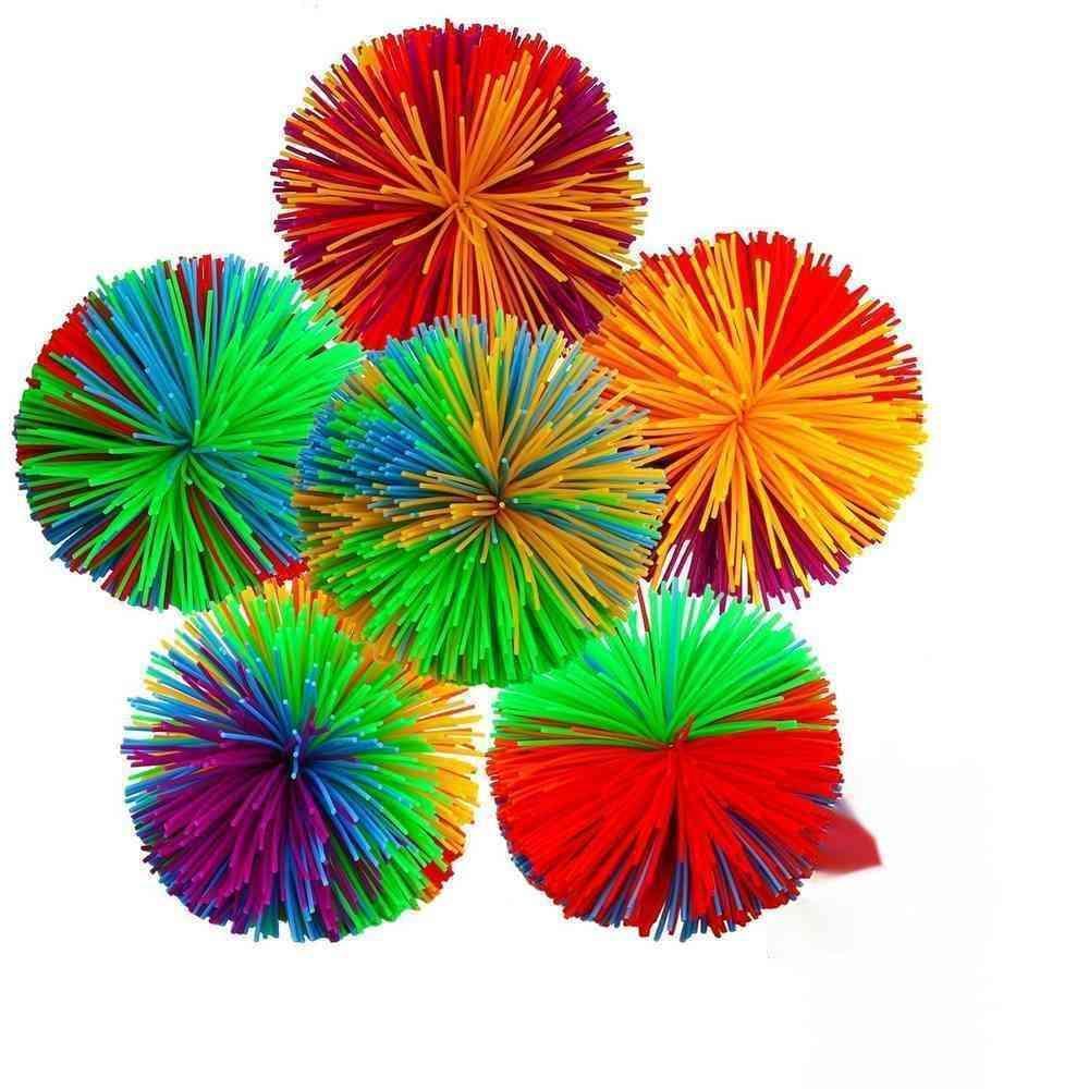 6 cm 7 cm Koosh Ball Sensory Fidget Toys Silicone Pom ADN Color Bolas de masa Squishes Squishes Alivio de estrés Autismo ADHD Dedo activo Diversión Squeeze Toy H48CCKU