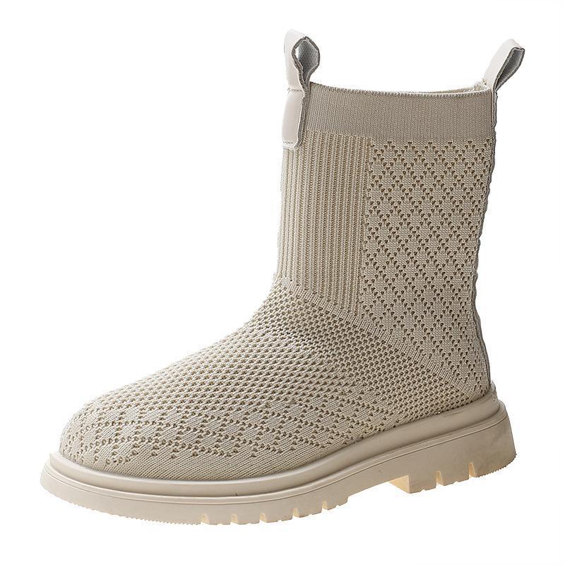 Çizmeler Kızlar Çorap Ayakkabı Nefes Casual İngiliz Tarzı Küçük Orta