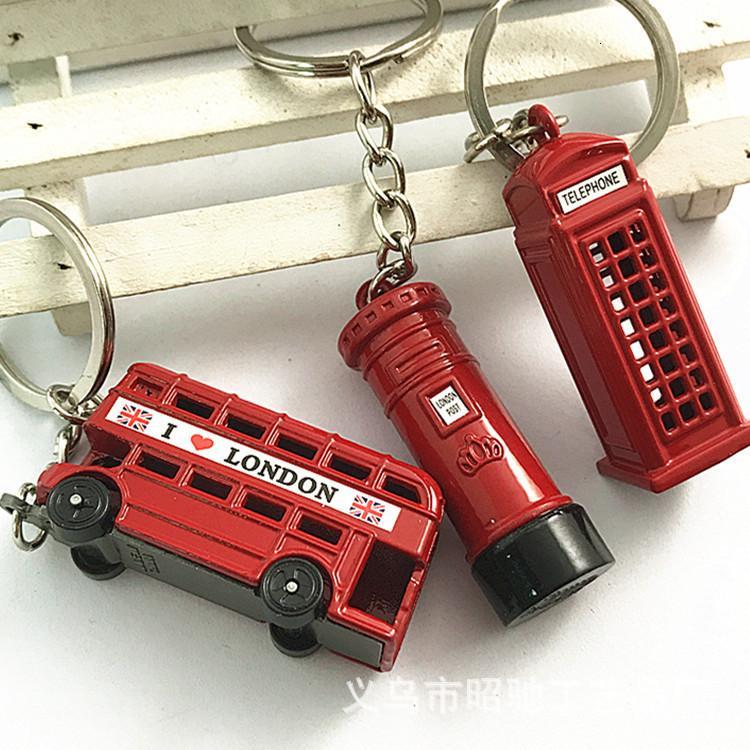 Reino Unido Double Decker Bus Chaveiro Estéreo Bus Keychain Modelo de Barramento Pingente Londres Presente