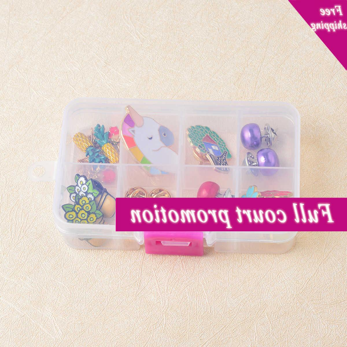 Japan and South Korea multifunctional 8-grid plastic transparent Earring Ring necklace brooch jewelry storage box