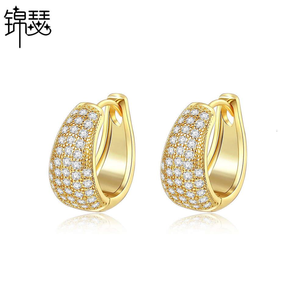 Jinse Mingqing Ohrringe Atmosphäre Einfaches Set 3A Zirkon Frauen Ohrringe Bankett Ohrringe Geschenk