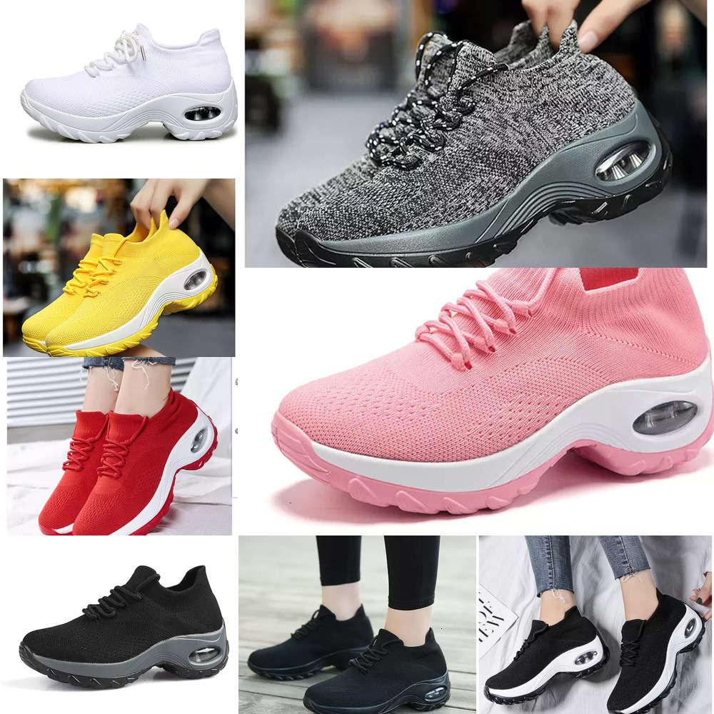 cushion Casual shoes Large flying women's lace up air sports fashion rocker casual versatile socks EVNZ SS9G J6GG 4ICL