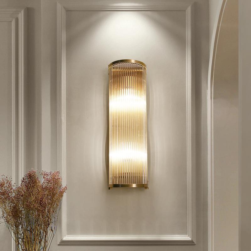 Deyidn 구리 벽 램프 클래식 간단한 라이트 거실 계단 침실 침대 옆 통로 복도 LED 크리 에이 티브 sconces 램프