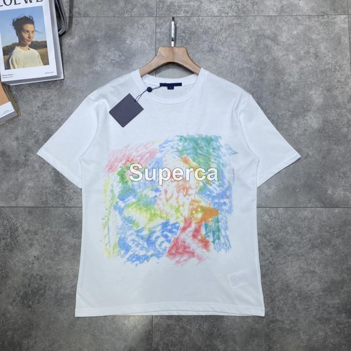 21ss 탑 QAULITY 여름 남성 디자이너 티셔츠 티셔츠 100 % 코 튼 프린트 패션 캐주얼 커플 반팔 티 남성 낙서 인쇄 티셔츠 그린
