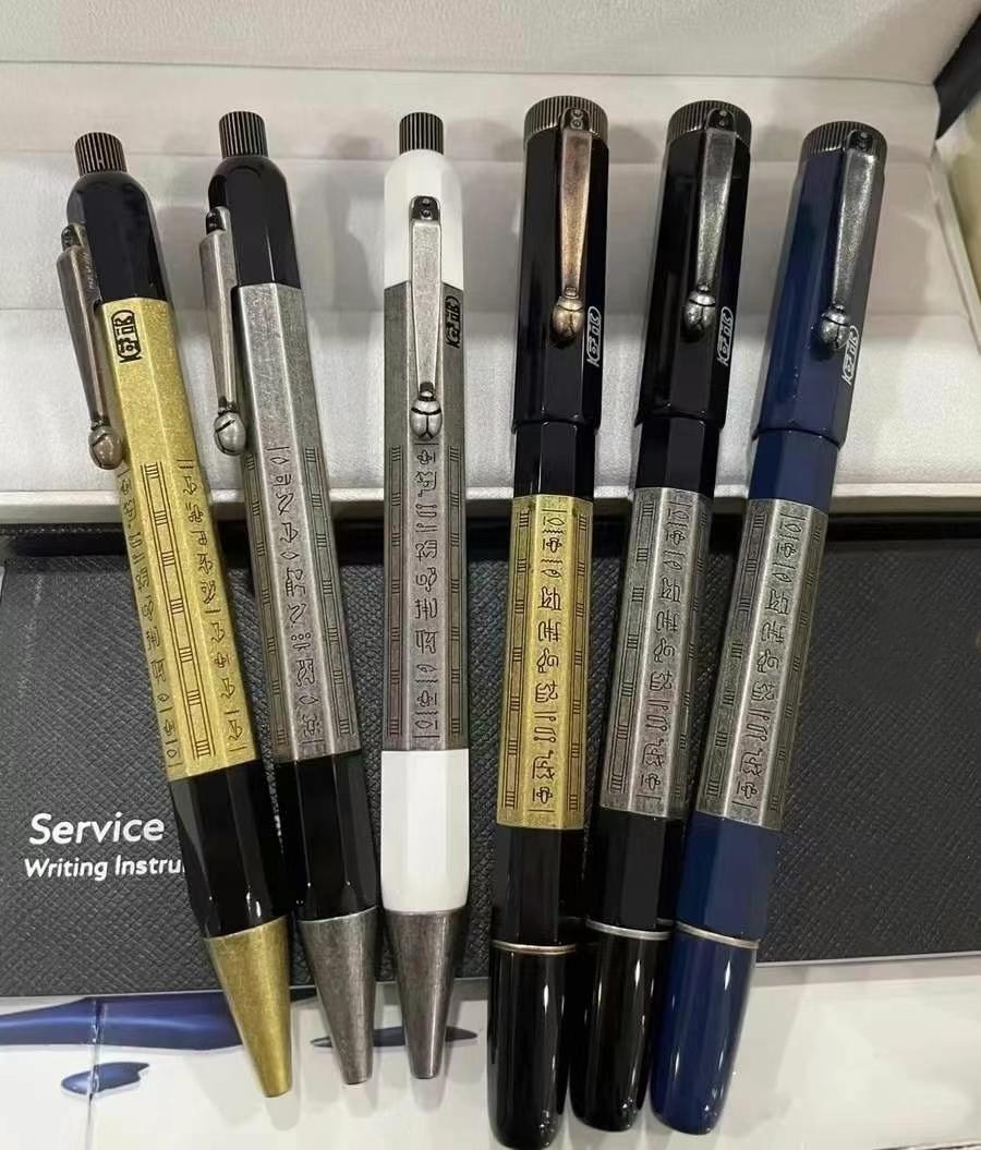 Haute Qualité Nouvelle Arrivée 14 Styles Stylo-stylo à bille / stylo à boule à rouleaux Exquisite Papeterie de bureau 0.7mm Stylos de recharge pour cadeau d'anniversaire (pas de boîte)