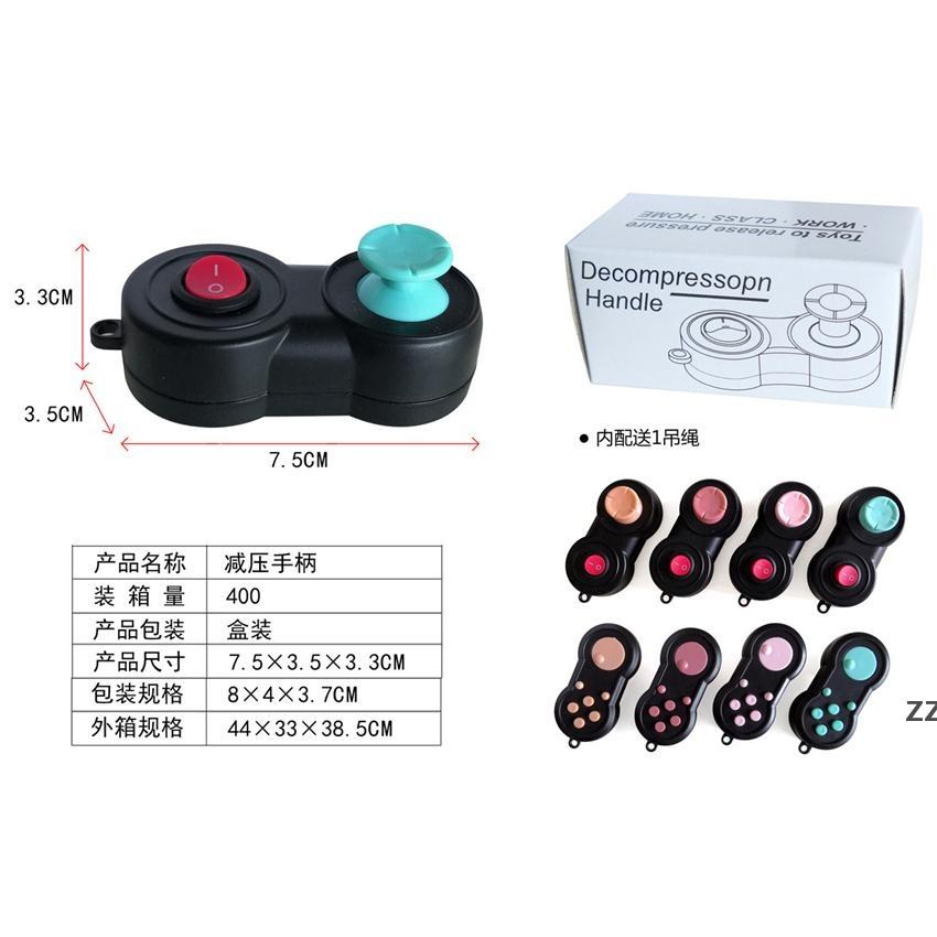 Controladores de jogos apertando switch toy stress releia fidget brinquedo gamepad decompação com string e caixa hwf7590