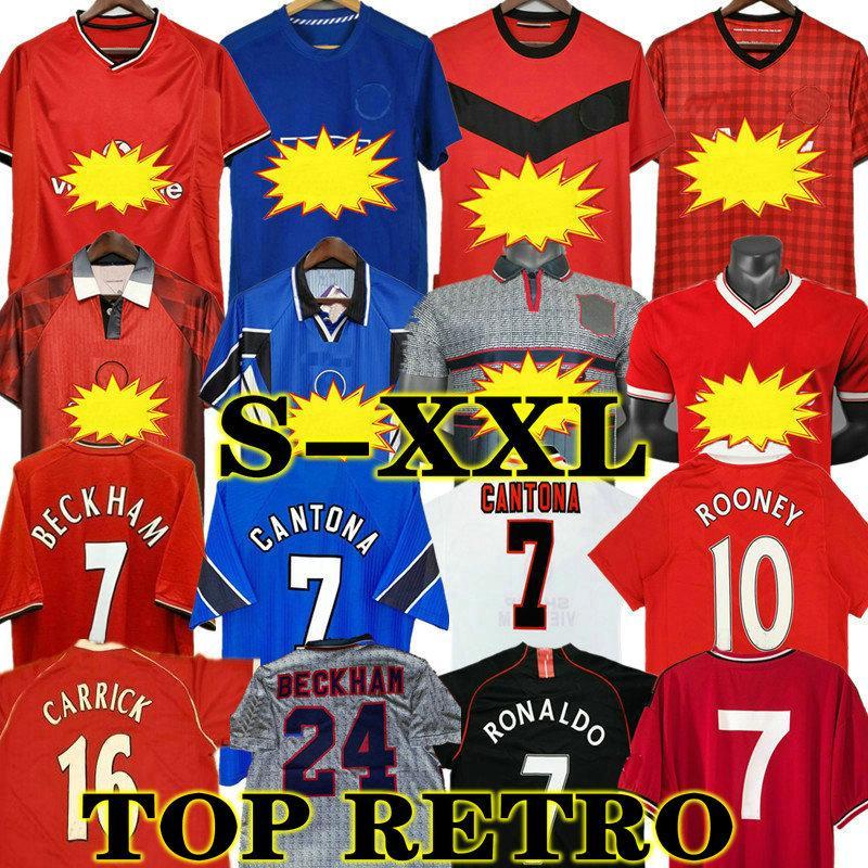Retro United 12 13 09 10 Fussball Jersey 2002 Mann Fußball Giggs Scholes Beckham Ronaldo Cantona Solskjaer Manchester 07 08 93 94 95 96 97 98 99 82 83 84 85 86 88 90 91
