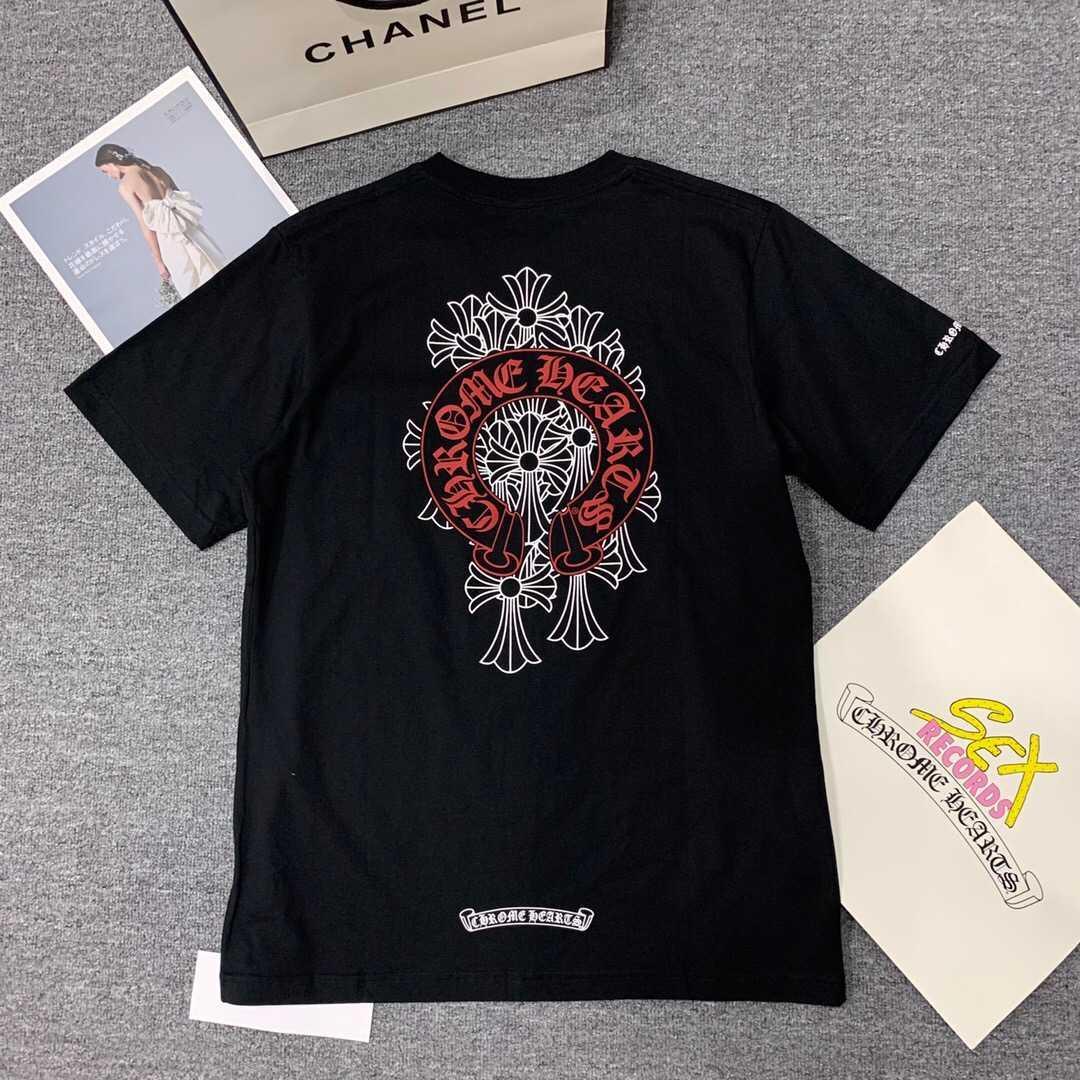 Yaz Moda Marka 2021 High End Crosin Hip Hop Ekip Boyun Kısa Kollu T-shirt At Nalı Phantom Cross Erkekler ve Kadın Severler T
