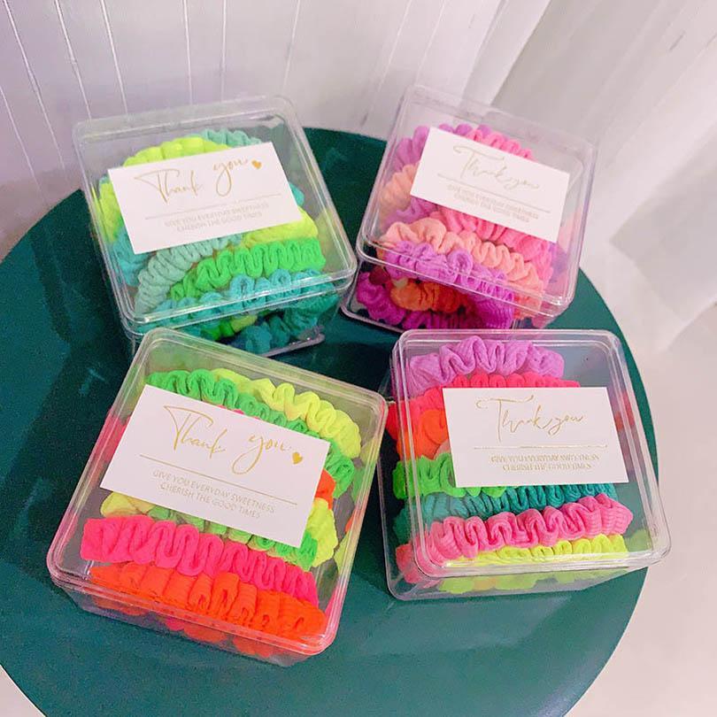 الفتيات اكسسوارات للشعر الاطفال hairbands 6 قطعة / مجموعات التعادل أزياء الأطفال scrunchies رئيس العصابات الحلو التبعي B4767