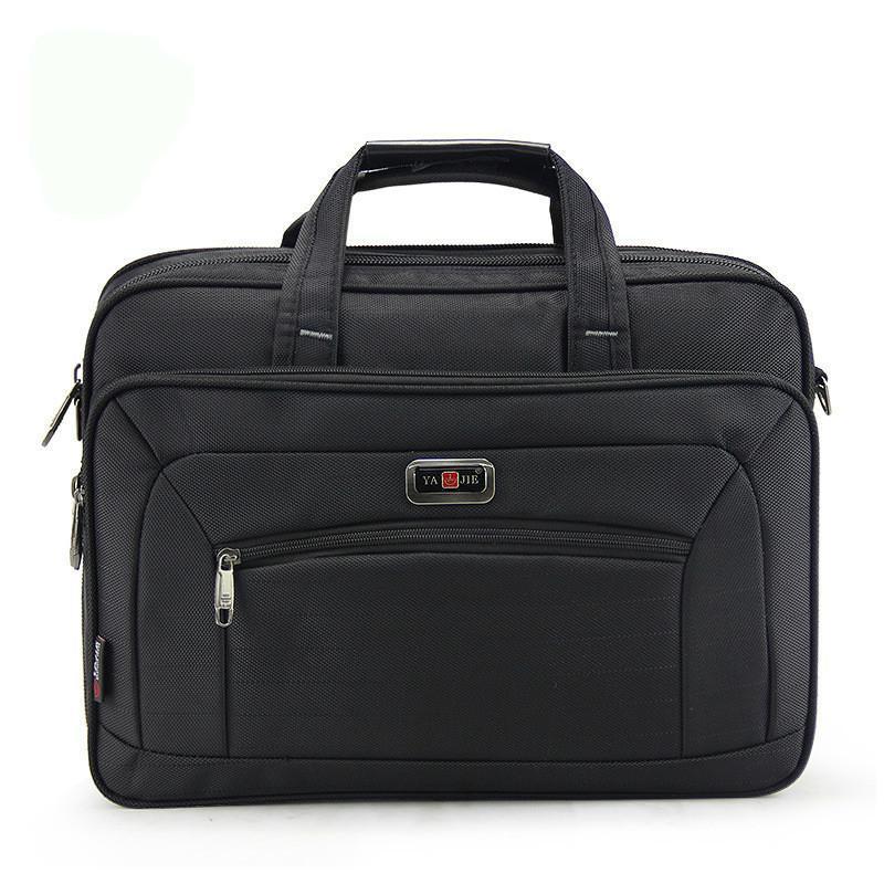 HBP15 polegadas marca impermeável nylon homens saco viagem mala comercial laptop masculina bolsa masculina q0112