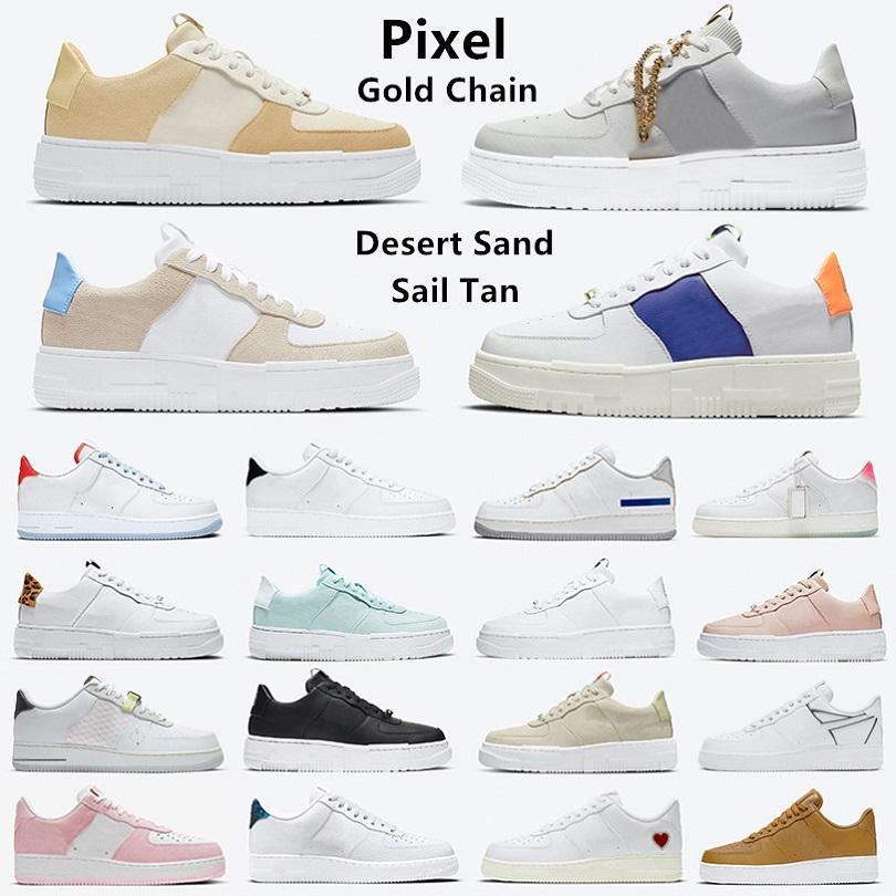 Nike air force 1 af1 moda Piksel smaç erkek koşu ayakkabıları Leopar Baskı Yelken Yılan siyah beyaz Hayalet gölge tepki smaçlar N354 Düşük platform erkek eğitmenler spor ayakkabı