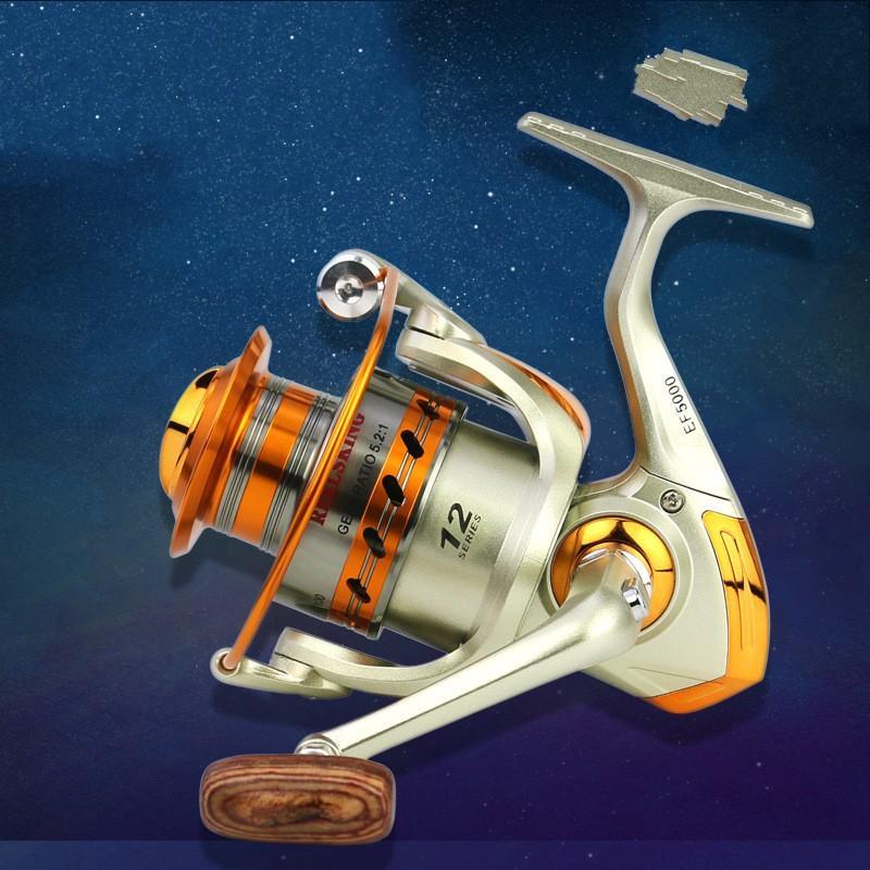 Новые металлические прядильные рыболовные катушки колеса рыболовные металлические рокер катушки спиннер соленая вода инструмент аксессуары1 569 x2