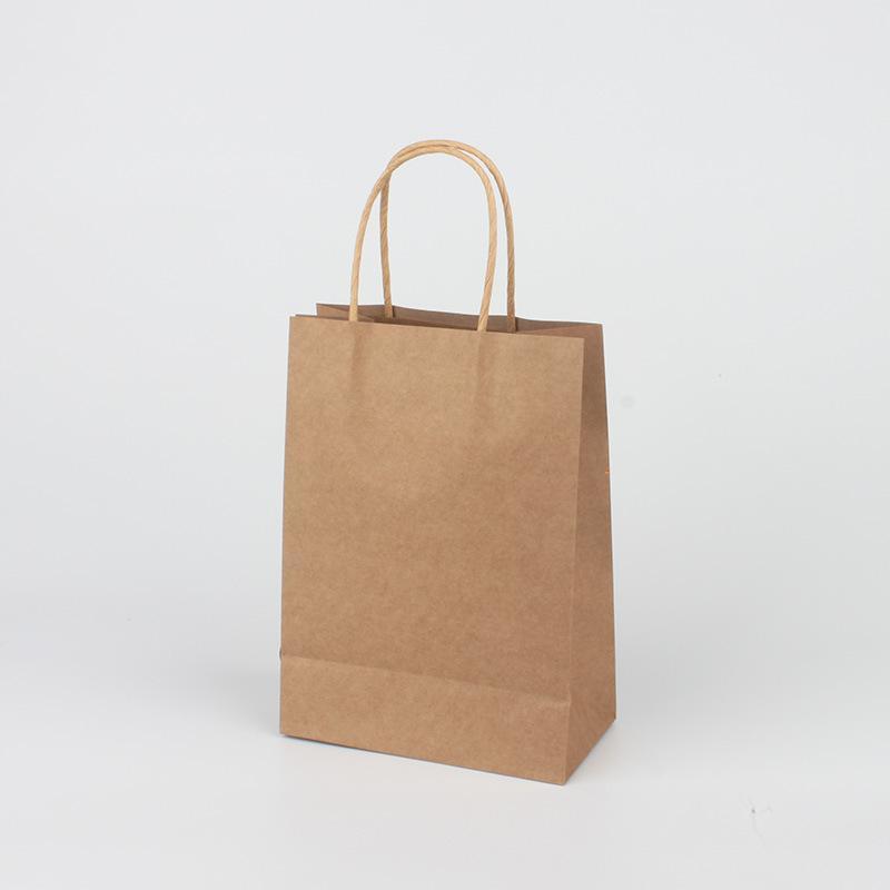 쇼핑 토트 백 인쇄 로고 간단한 선물 크래프트 종이 봉투 Kraft Paper Tote Bag 15 * 8 * 21cm GWE6175 감사합니다.