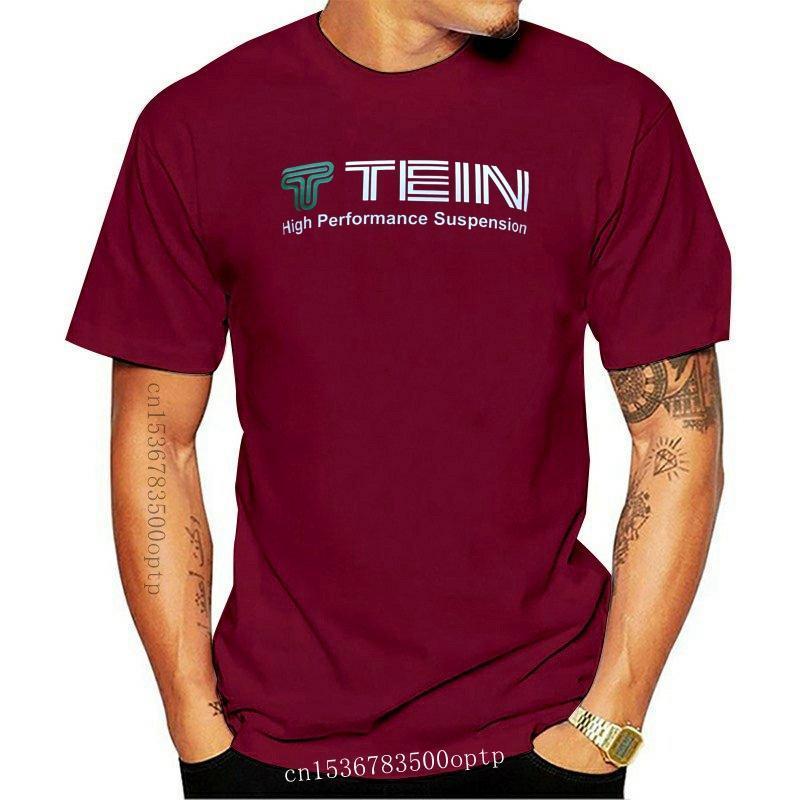 Men's T-Shirts TEIN Suspension Car Racing Ultra Black Cotton T-Shirt (Asian & US Sizes)