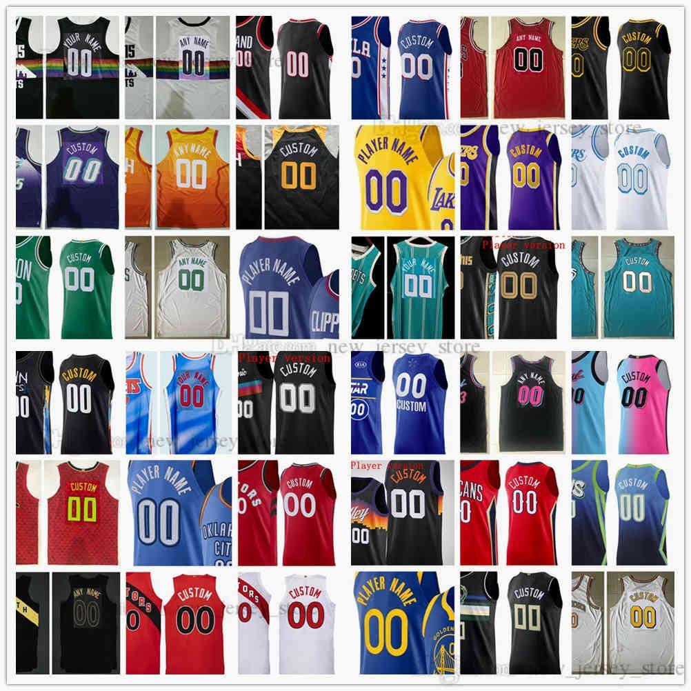 Versión del jugador auténtico cosido Jerseys de baloncesto Antetokounmpo Irving Morant Harden Durant Tatum Lamelo Lillard Ball Young Wade Chris Booker Paul Doncic
