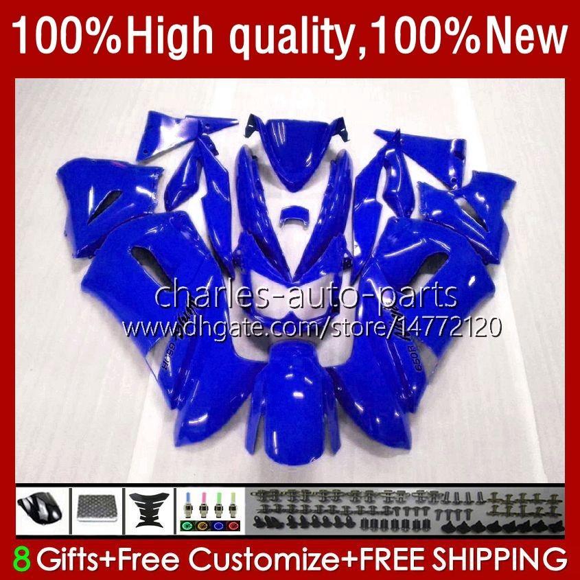 OEM Bodywork para Kawasaki Ninja ER 6 F 2006-2008 ER6 F 650 R 650R 06-08 Corpo 6NO.90 650R-ER6F ER-6F ER 6F 2006 2007 2008 650-R ER6F 06 07 08 Blue Lustroso