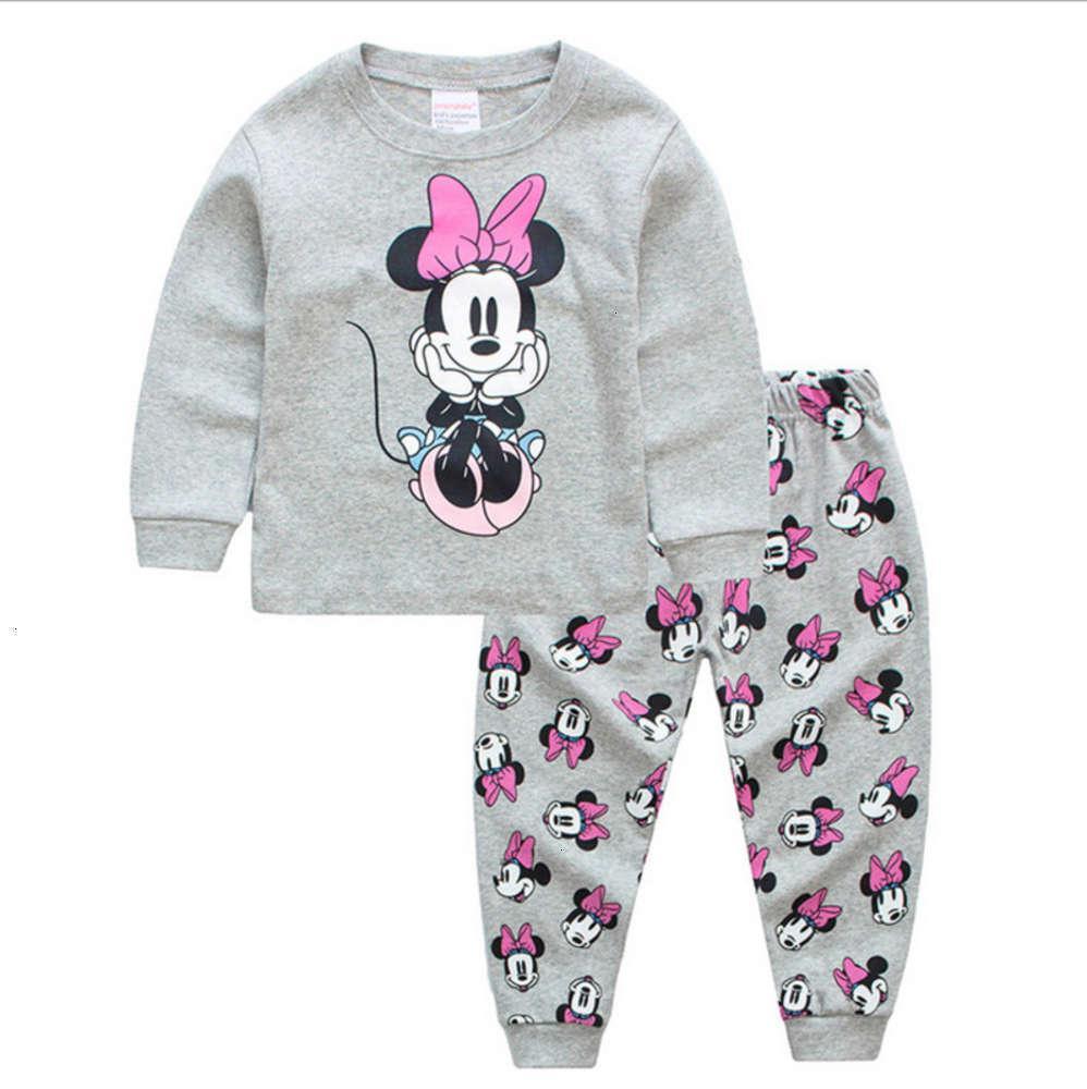 Pajamas Shooting PhysiqueHome Spring et Long Long Sve Girls 'Costume en coton d'automne pour enfants