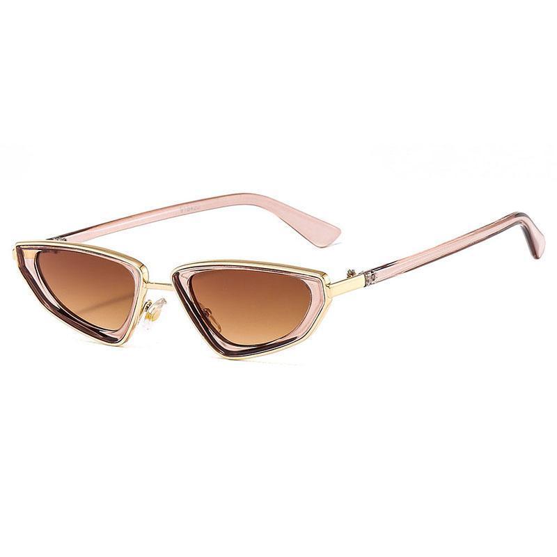 الأزياء الصغيرة القط العين النساء نظارات العلامة التجارية مصمم خمر مثلث لون الحلوى الإناث نظارات الشمس ظلال uv400 الرجال