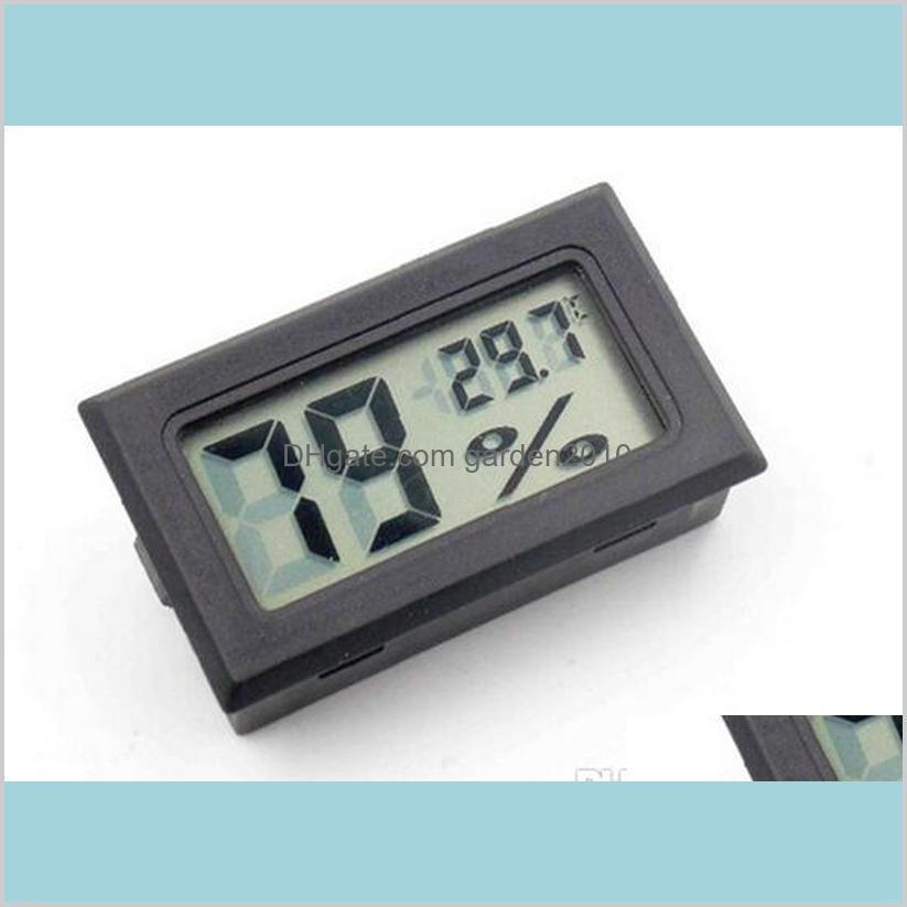 Household Thermometers Sundries Home & Garden 2017 Moisture Meters Built In Sensors Embedded Electronic Digital Hygrometer Lcd Display