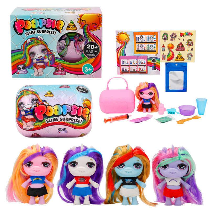 Unicorn doll 4 cartoon capsule blind box children's educational toys with accessories