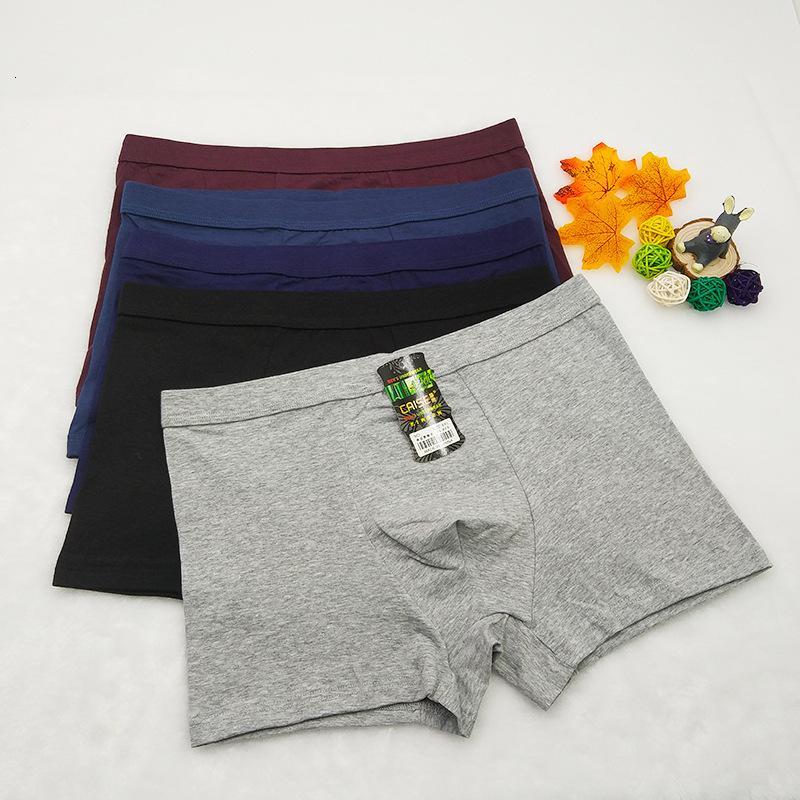 Sous-planches de coton respirant taille moyenne Boxers, pantalons de shorts à pattes plates, sous-vêtements pour hommes design U-convexe