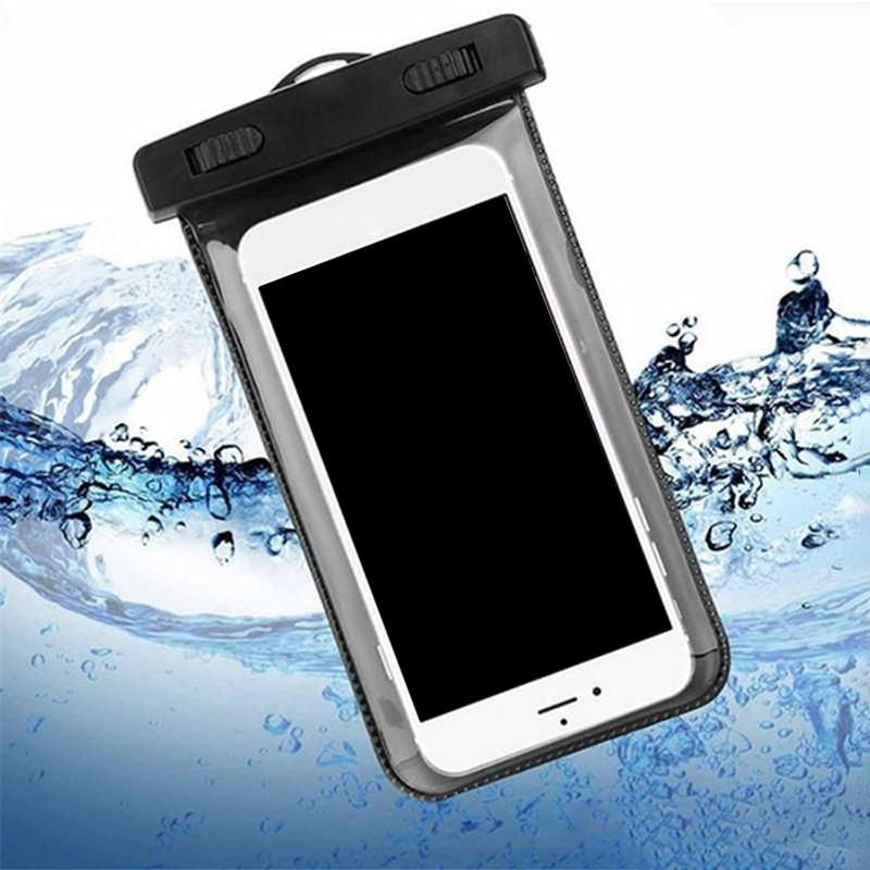 Outdoor PVC Plastic Dry Cases Waterproof Bag Sport Cellphone Protection Universal Cell Phone Case For Smart Mobile Telephone 4.7inch 5.5Inch