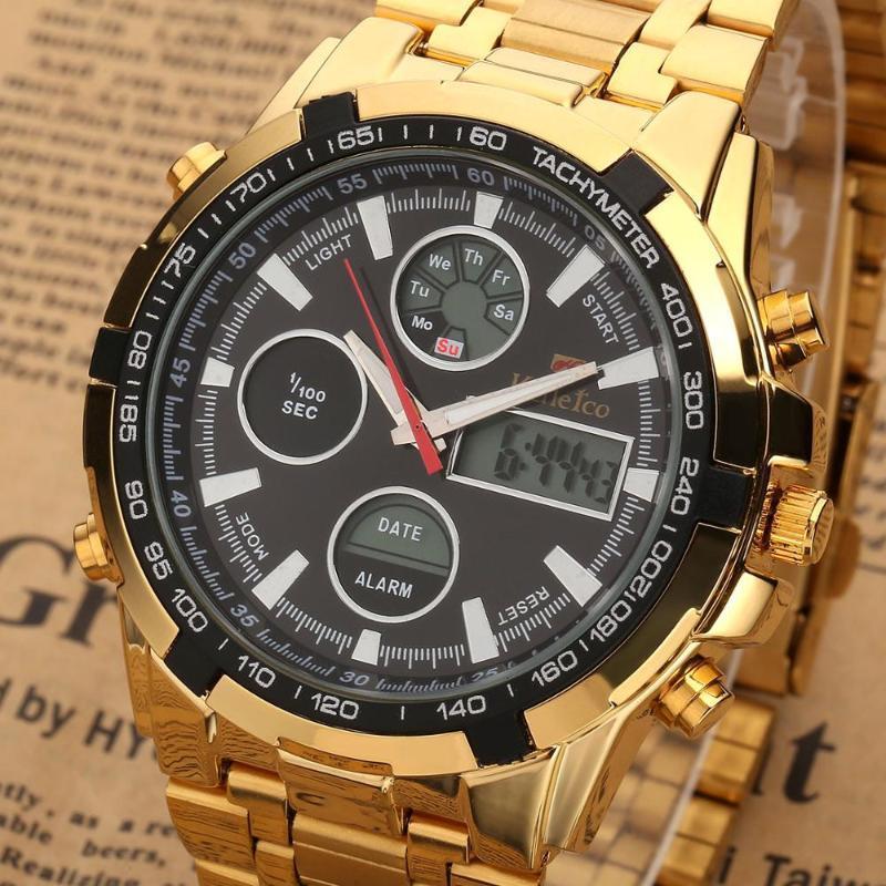 Armbanduhren Trendy Männer Sportuhr Mode Blau Binärer LED Zeiger Uhr Herren Tauchen Wasserdichte Digitaluhren Relogios Masculinos