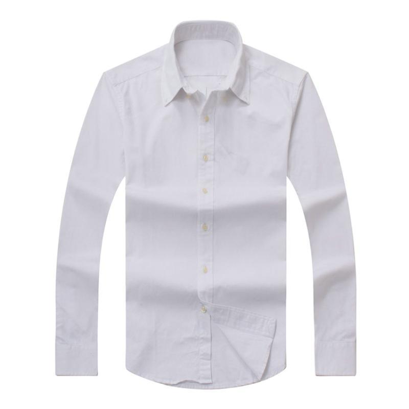 2017 neue Herbst Herren Langarm Hemd Baumwollhemd Herren Polo Lässig Solid Normale Fit Herrenhemden Mode