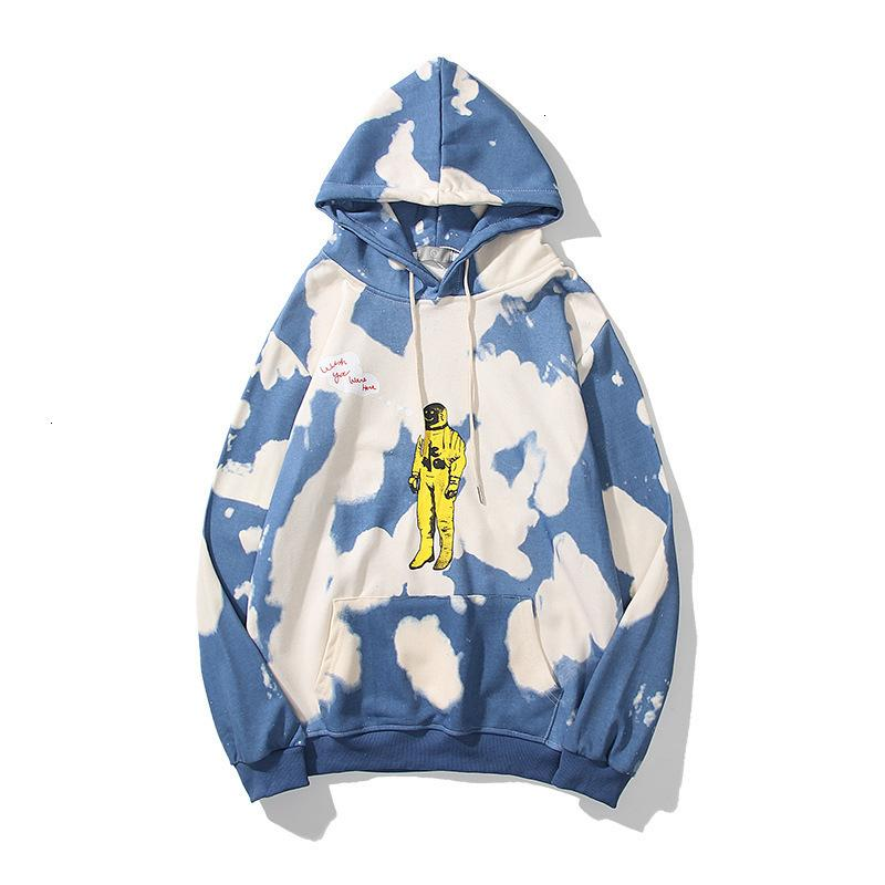 الرجال والنساء الملابس الشتوية هوديس الشتاء ترافيس أزياء الشارع Tide Astro World الخريف رواد الفضاء التعادل مصبوغ البلوفرات فضفاضة للرجال والنساء 8ig