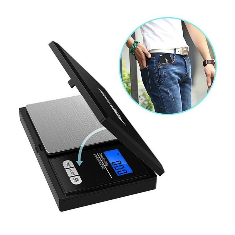 Mini Digital Pocket Scale 100/200/300/500g 0.01g Electronic Weighter With LCD Display 2 Battery For Jewelry Gold Dry Herb
