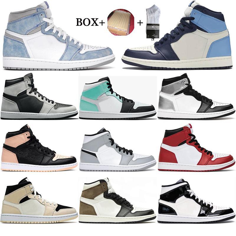 مع مربع 1s أحذية كرة السلة رجالي 1 محطمة الخلفية mocha سبج توربو الأخضر الجامعة الأخضر الأزرق hyper الملكي الرياضة الرياضة أحذية رياضية الحجم 36-46