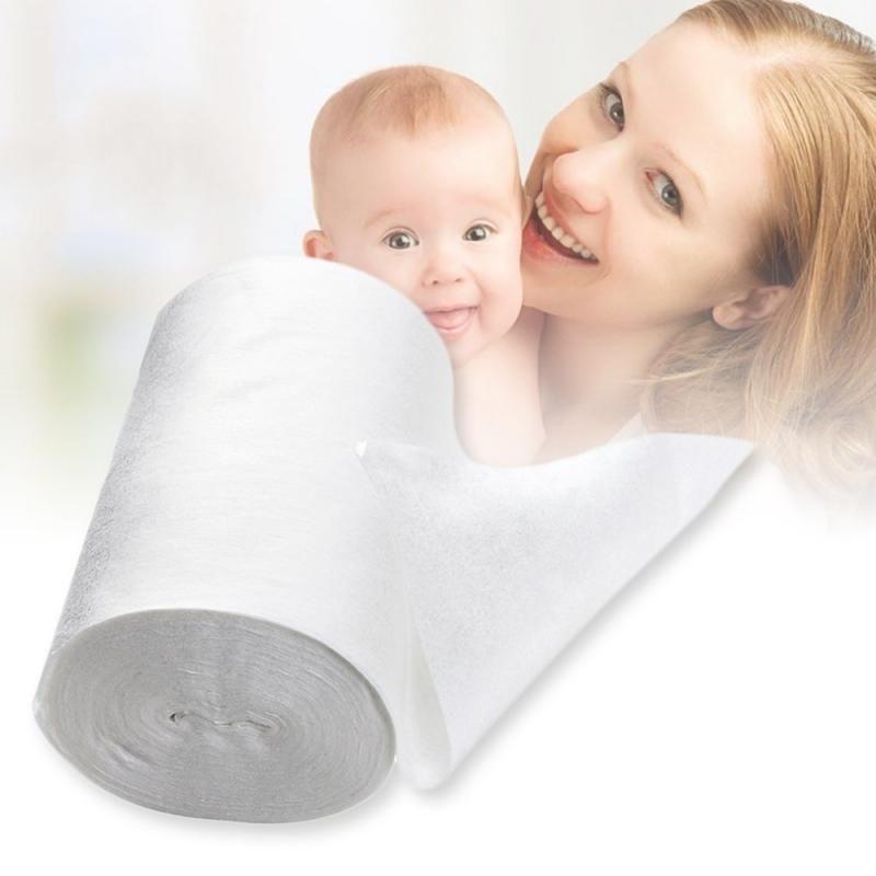 아기 플러시 일회용 천으로 기저귀 대나무 라이너 100 장 1 롤 무성부 생분해 성 기저귀