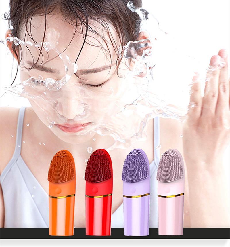 Лицо Очищающие кисти Инструменты Sonic Силиконовые Уборки лица Глубокая Стиральная Массажер для ухода за кожей Батареи не включены
