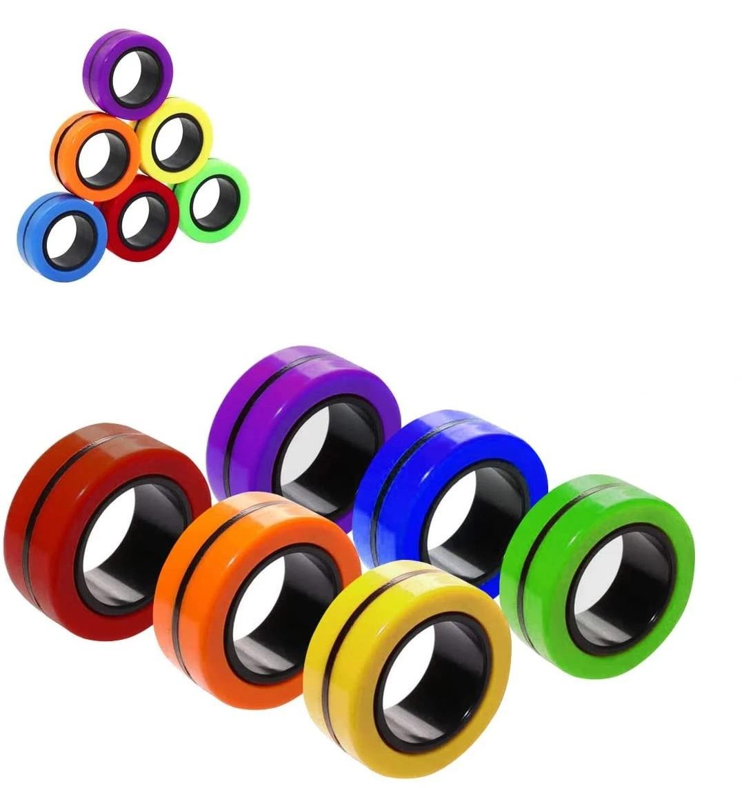 2021 Anti-Stress Magnetic Rings Fidget Unzip Toy Magic RingTools Children Finger Spinner Ring Adult Decompression Toys
