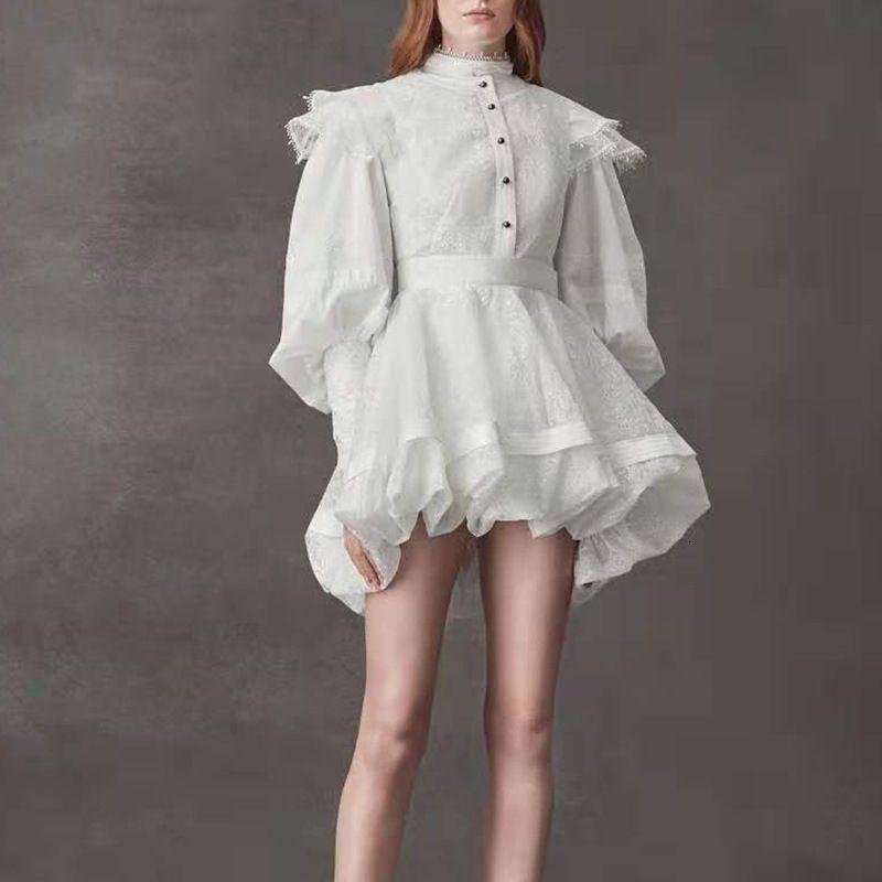 Ladies Casual Dresses Big-name summer womens lace ruffles fashion top shirt + pleated skirt women elegant high waist two-piece suit XL