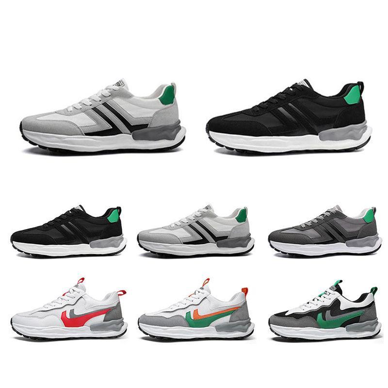 Homens Running Shoes Cor Vermelho Vermelho Verde Cinza Preto Respirável Esportes Sneakers Homens Treinadores Tamanho 39-44