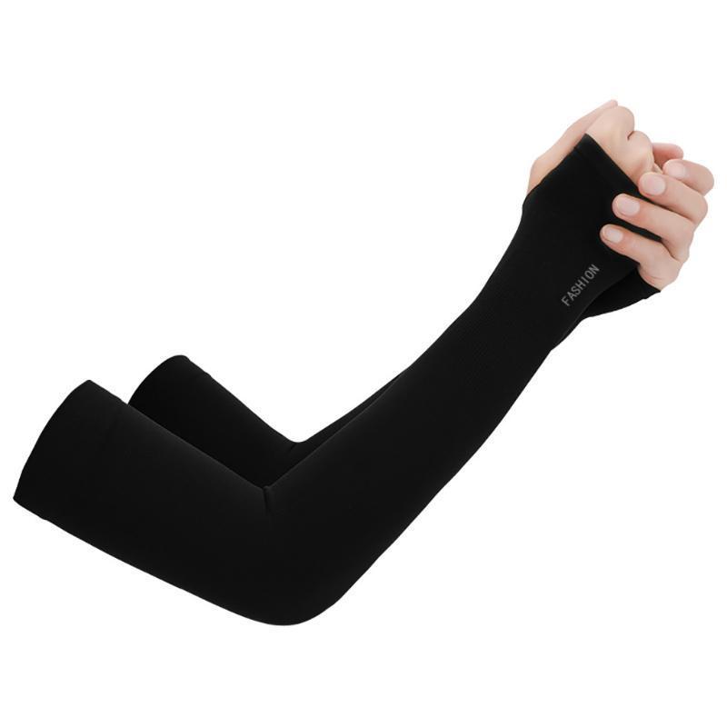 Donne maschili a braccio solido Ciclismo Sport Protezione Sport Compressione Traspirante Sunscreen Raffreddamento Zanzara Repellente Gomito