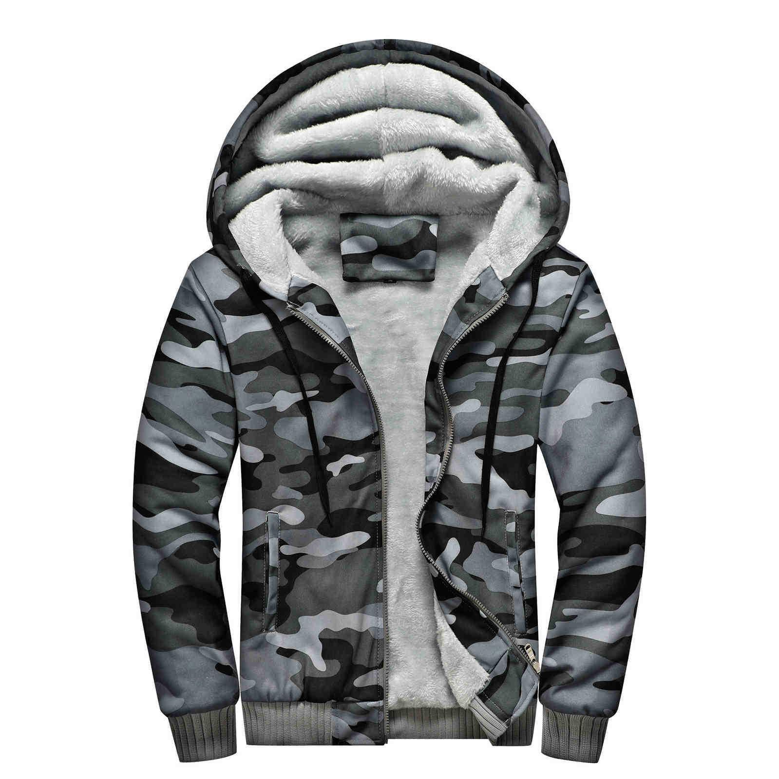 Erkek Hoodies Moda Tasarımcılar ABD Boyutu Avrupa Boyutu Kamuflaj Kişilik Kalınlaşma Sıcak Gençlik Tişörtü Kot Pantolon ve Pantolon için Mükemmel