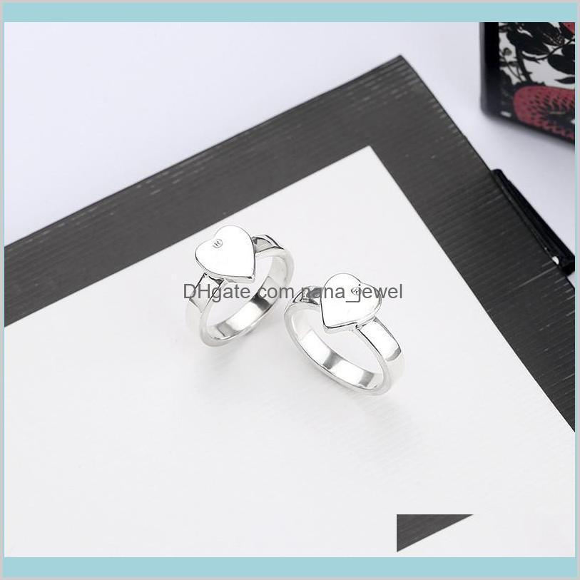 Beset Satış Gümüş Kaplama Yüzük Yüksek Kaliteli Alaşım Yüzük En Kaliteli Yüzük Kadın Moda Için Basit Kişilik Takı Kaynağı 5OACU YBWGL