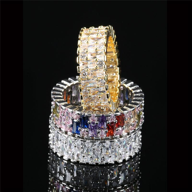 Wedding Rings Ekopdee Classic Colorful Zircon Finger For Women Luxury Cz Crystal Eternal Promise Ring Bridal Engagement Fashion Jewelry