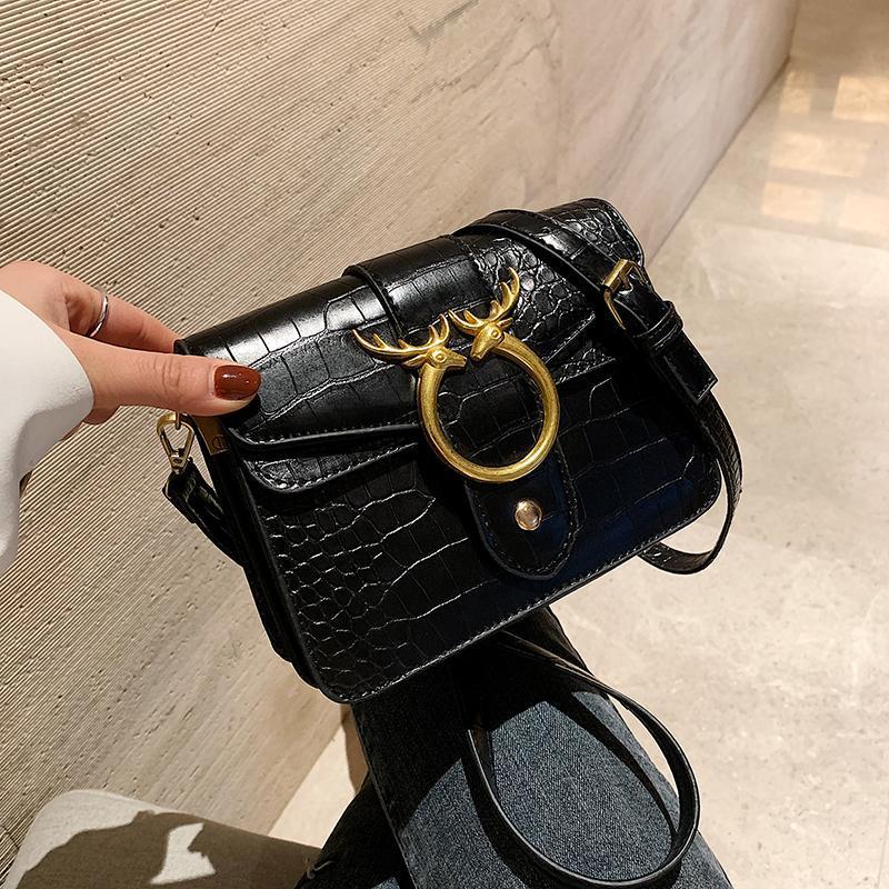 Mode PU-Lederklappe Frau Umhängetasche Vielseitige Stein Crossbody Geldbörsen und Luxus Handtaschen Frauen Taschen Designer HEBBAGS S SAC CROSS BODY
